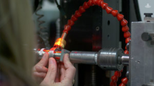 Preparing a component for laser welding